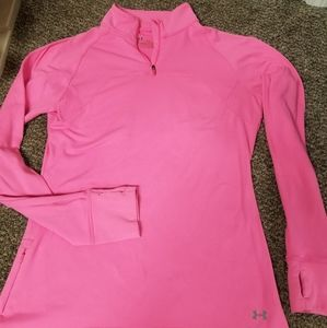 Pink long sleeve under Armour size Large